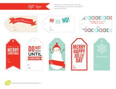 Dangly Gift Tags