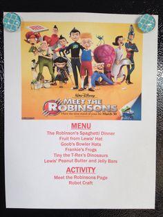 Meet the Robinsons Coloring Menu - Meet the Robinsons Movie Night - Disney Movie Night - Family Movie Night