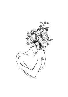 Line Art Tattoos, Mini Tattoos, Love Tattoos, Beautiful Tattoos, Body Art Tattoos, Dainty Tattoos, Small Tattoos, Art Drawings Sketches, Tattoo Drawings