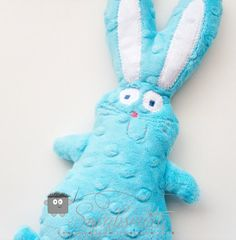 Little Buny Fufu Minky Dot Rice Bag Bunny .... is the rice bag slipped into the back of the bunny?