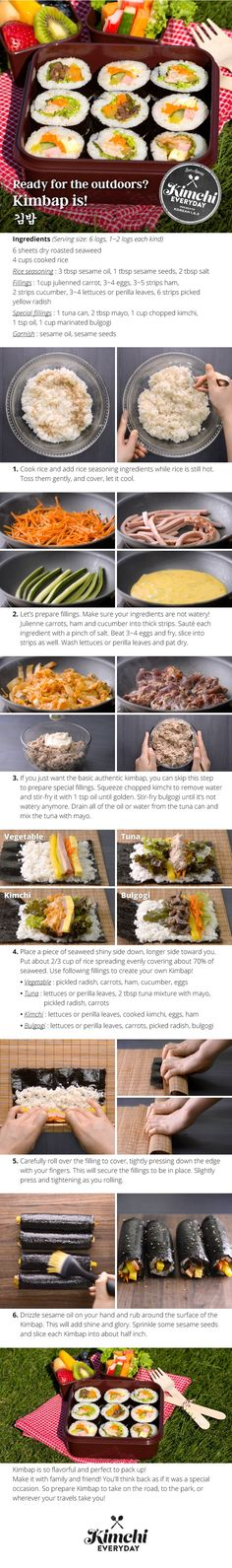 Hmart presents: How to make Kimbap 4 different ways