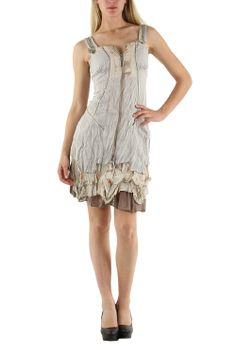 Beige tiered dress by C' Fait Pour Vous via geckoboutique. Click on the image to see more!