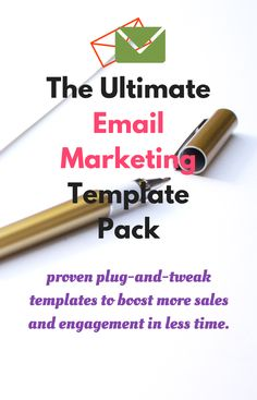"""""""The Ultimate Email Marketing Template Pack. Includes word-for-word scripts, tested and proven email templates & optimized email subject lines to boost more sales and engagement in less time # Affiliate link"""