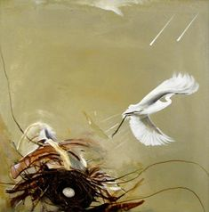 Brett Whiteley, Untitled (bird), 1978 - just finished a short article about Aussie artists and am kicking myself for never going to Brett Whiteley's Surry Hills studio. Australian Painting, Australian Birds, Australian Artists, Tachisme, Avant Garde Artists, Art Database, Indigenous Art, Art Auction, Animal Paintings