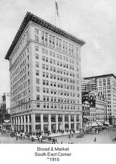 Old Photos of Newark NJ | Broad & Market Street - South East Corner