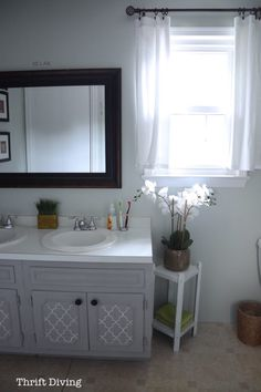 How to Paint a Bathroom Vanity - Thrift Diving Blog6770