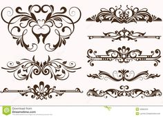 Vintage Ornaments Borders Design - Download From Over 41 Million High Quality Stock Photos, Images, Vectors. Sign up for FREE today. Image: 42062243