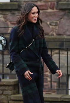 Meghan Markle Photos - Meghan Markle during her visit to Edinburgh Castle with Prince Harry on February 13, 2018 in Edinburgh, Scotland. - Prince Harry And Meghan Markle Visit Edinburgh