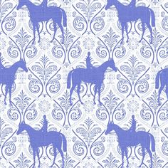 Blue and White horses on trellis fabric by ragan on Spoonflower - custom fabric Horse Background, Equestrian Decor, Equestrian Style, Horse Fabric, Horse Wallpaper, Charro, Horse Pattern, Horse Gear, Prince