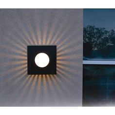 Kenroy Home Burst 1-Light Black Small Square Sconce