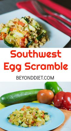 So much flavor in an easy egg scramble! Banting Breakfast, Clean Breakfast, Breakfast For Dinner, Paleo Breakfast, Breakfast Recipes, Breakfast Ideas, Beyond Diet Recipes, Low Carb Recipes, Healthy Recipes