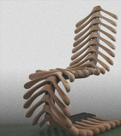 skeleton chair - recycled suit hangers!