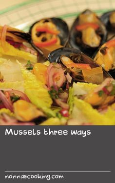 Mussels three ways Jelly Recipes, Soup Recipes, Rachel Khoo, Lettuce Cups, Gazpacho, Third Way, Mussels, Ceviche, Delicious Food