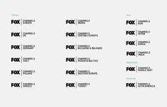 FOX international channels Corporate Identity by DHNN Creative Agency , via Behance