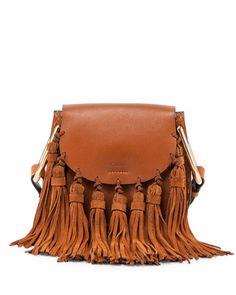 V2M0N Chloe Hudson Mini Fringe Shoulder Bag, Caramel
