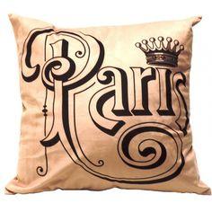 Almofada Paris ousando ouse com h