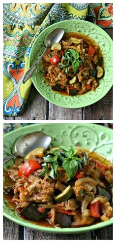 #SlowCooker Paleo Sausage and Vegetable Ratatouille from Everyday Maven; this is a perfect meal using summer garden veggies. [via Slow Cooker from Scratch] #Paleo #LowCarb #GlutenFree #SouthBeachDiet #CrockPot