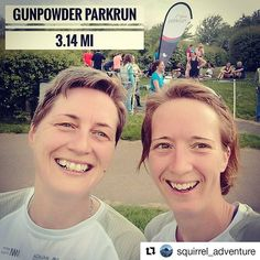 A rare repost for me from @squirrel_adventure. I got a pb and I'm super happy about it. I've come close over the past few events but yesterday I smashed 17 seconds off my previous best!  Saturday morning means @parkrunuk tourism at the moment. Lovely run with @struth_adventures at Gunpowder Parkrun this morning sporting matching @media_maraton_malaga 2018 tshirts! . . I've done 14 ParkRuns now at 9 different locations up and down the UK. A good mix of hard paths forest paths and fields…