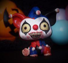 halloween creepy spooky evil clown littlest pet shop ooak custom figure lps