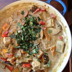 Thai Green Curry With Kabocha Squash And Shiitake Mushrooms - vegan
