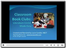 Watch short video - Book clubs: Literature circles made easy and transform bored readers into passionate readers. Reading Lessons, Reading Resources, Reading Strategies, Reading Skills, Teaching Reading, Reading Comprehension, Teaching Ideas, Guided Reading, Library Activities