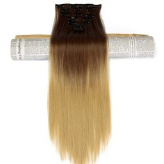 Neverland 8 25 30 25 Ombre Synthetic Hairpieces 24 16Clips Full Head Straight Heat Resistant Clip. Click visit to buy #SyntheticExtensions