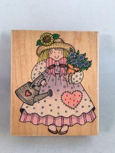 Garden Gal H1023 Hero Arts Rubber Stamp  | eBay