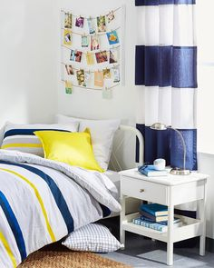 I was so excited when @Lacoste asked me to work with them to style a dorm room inspired by their new bedding collection, especially as I've not designed such a space since I was at college myself over a decade ago. (Yikes! 🙈) It was so much fun and I love how the room came together with the yellow, blue and grey color palette. 💛💙On the blog today I'm sharing my five tips for creating a colorful, stylish and welcoming dorm room – check it out via the swipe up link in my story…
