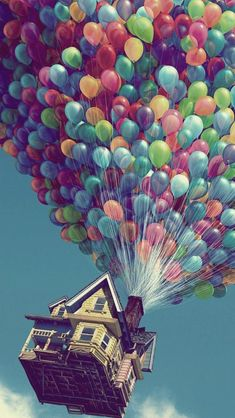 Flying House #iPhone #5s #Wallpaper