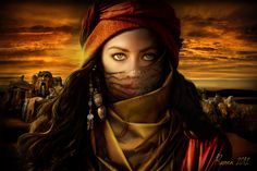 Allat (Al-lat) An ancient mother and fertility goddess of the pre-Islamic Arabs… 3d Fantasy, Fantasy Women, Fantasy Characters, Female Characters, Dnd Characters, Character Inspiration, Character Art, Character Ideas, Character Design