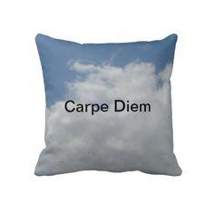 Carpe Diam Throw Pillow