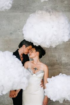 make puffy clouds for a backdrop or for an photo booth.