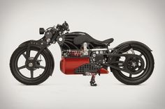 Alabama-based Curtiss Motorcycles is adding another stunning bike to its electric lineup with The One, set to start series production in Summer 2021. Curtiss' two-wheeled... Motorcycle Images, Motorcycle Types, Birmingham, Alabama, Hermanos Wright, The One, Japanese Joinery, Tesla Roadster, Final Drive