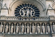 Statuary and Tracery, Cathedral of Notre Dame, Paris