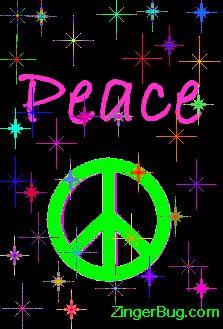 Peace stars Glitter Graphic Glitter Graphic Comment