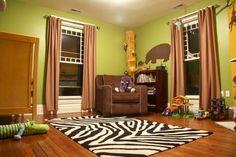 Safari Room Decoration Ideas love this paint.let the painting begin! Safari Room, Safari Home Decor, Jungle Theme Nursery, Jungle Room, Themed Nursery, Safari Theme, Bedroom Design Inspiration, Nursery Inspiration, Bedroom Themes