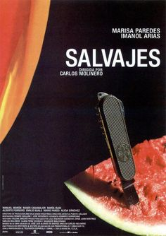 """Salvajes [Savages] - Carlos Molinero 2001 -- """"Valencia: Berta, guardian of her deceased sister's children, finds love with a police inspector. But the relationship is tried when her niece falls in love with a man who smuggles Africans into Europe & her nephews are skinheads."""""""