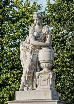by Jakob Schletterer and Johann Baptist Hagenauer According to legend, when her beloved husband Mausolus died Artemisia had his ashes collected in an urn and mixed a portion of these daily in her drink. Garden Urns, Garden Gate, Parks, Fantasy Queen, Cemetery Art, Vintage Interiors, Vienna, Austria, Beautiful Places