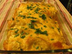 Louanne's Kitchen: Cheesey Chicken Enchiladas and Poblano Chicken Enchiladas