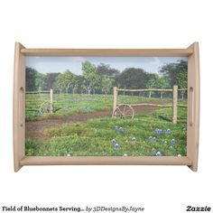 Field of Bluebonnets Serving Tray