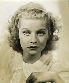 Lucille Ball ~ Beautiful young girl.
