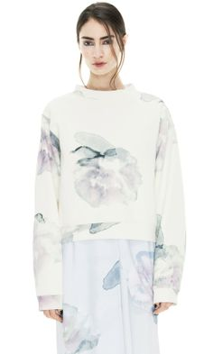 Bird Print Exploded Flower - soft prints from Acne