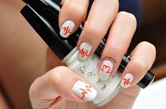 Valentines Day nail design 2015 Latest Nail Designs, Valentine's Day Nail Designs, Saga, Valentines Day, Nail Polish, Chain, Nails, Valentine's Day Diy, Finger Nails