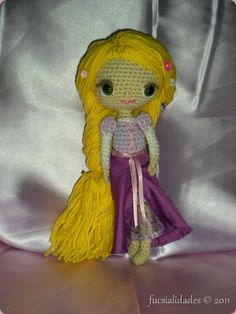 Rapunzel amigurumi finished object