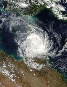 Tropical Cyclone Nathan (18P) over Cape York Peninsula, Australia