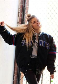 90s vintage giants starter bomber jacket  from cats got the cream