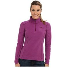 North Face 1/4 Zip TKA 100 in Maroon North Face maroon 1/4 zip.  Quick drying fleece, classic pullover style, soft, 1/4 zip, pill-resistant.  First picture is for fit purposes only, the actual color is darker.  More pics to come. North Face Tops Sweatshirts & Hoodies
