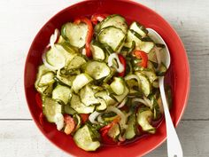 Cold Cucumber Salad recipe from Trisha Yearwood via Food Network