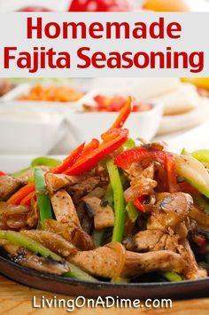 Homemade Fajita Seasoning Recipe - Homemade Seasonings Mixes And Blends