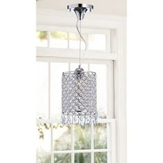 Chrome/ Crystal 1-light Mini Pendant Round Chandelier - Overstock™ Shopping - Great Deals on Otis Designs Chandeliers & Pendants
